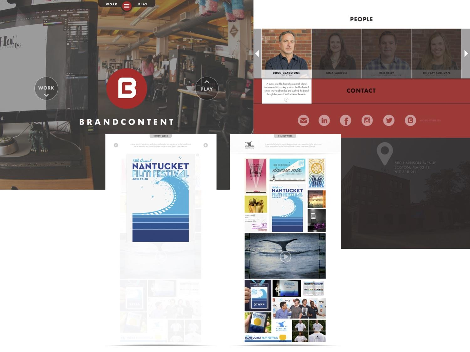 Brand Content | Agency Website - Before