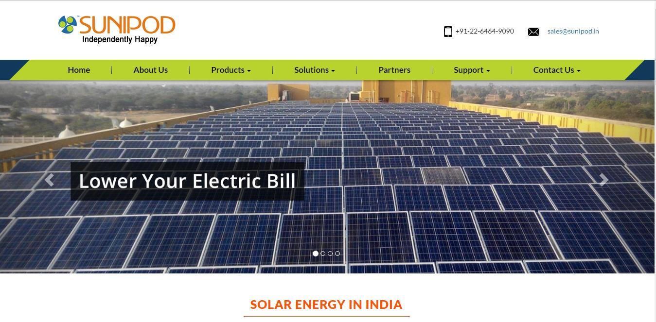 Website Designing Project - Sunipod.in
