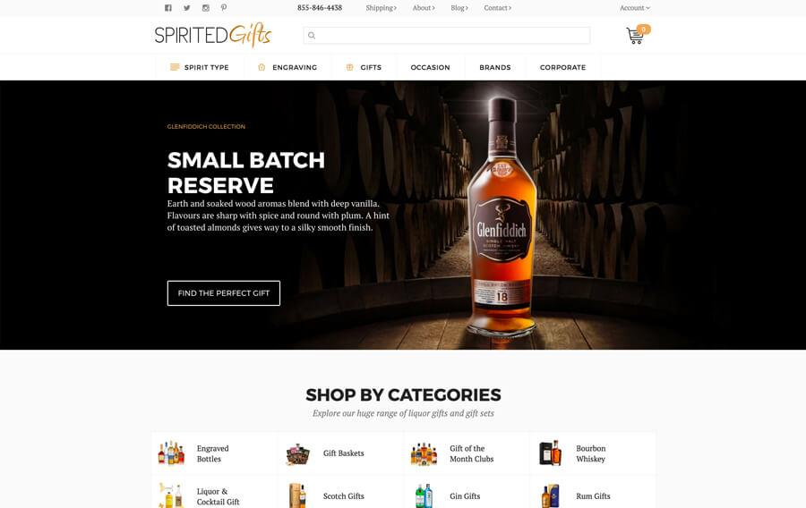 Spirited Gifts - Custom Magento Design and Development
