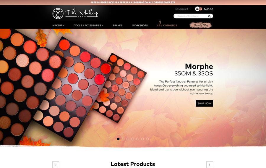 The Makeup Club - Custom Magento 2 Design and Development