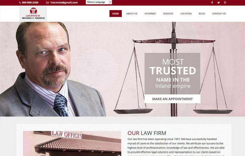 Website For Law Firm : Maddux Law