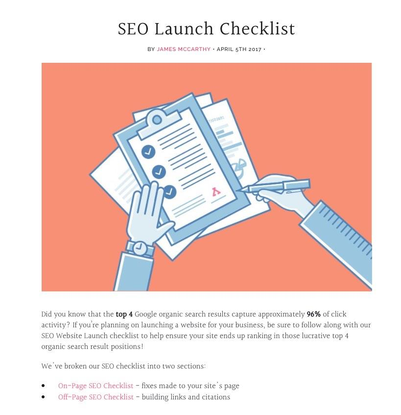 SEO Checklist 2017 - Placement Labs