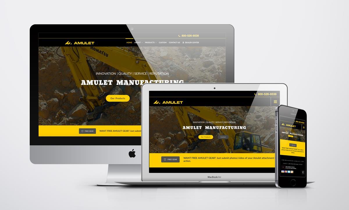 Website Design for Amulet Manufacturing Inc.