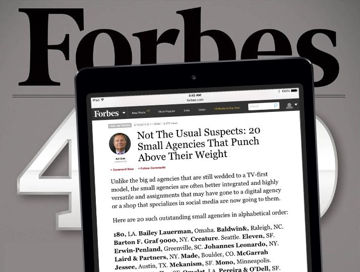 Not The Usual Suspects: 20 Small Agencies That Punch Above Their Weight