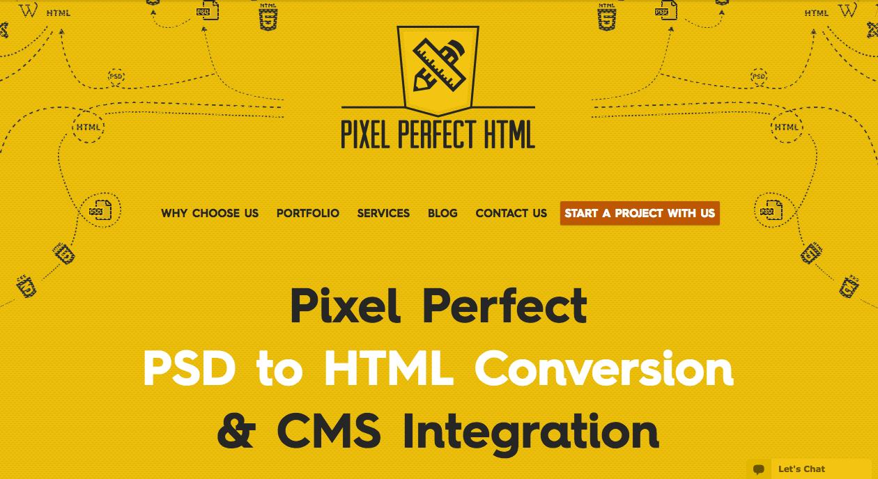 Pixel Perfect HTML - PSD to HTML Blog
