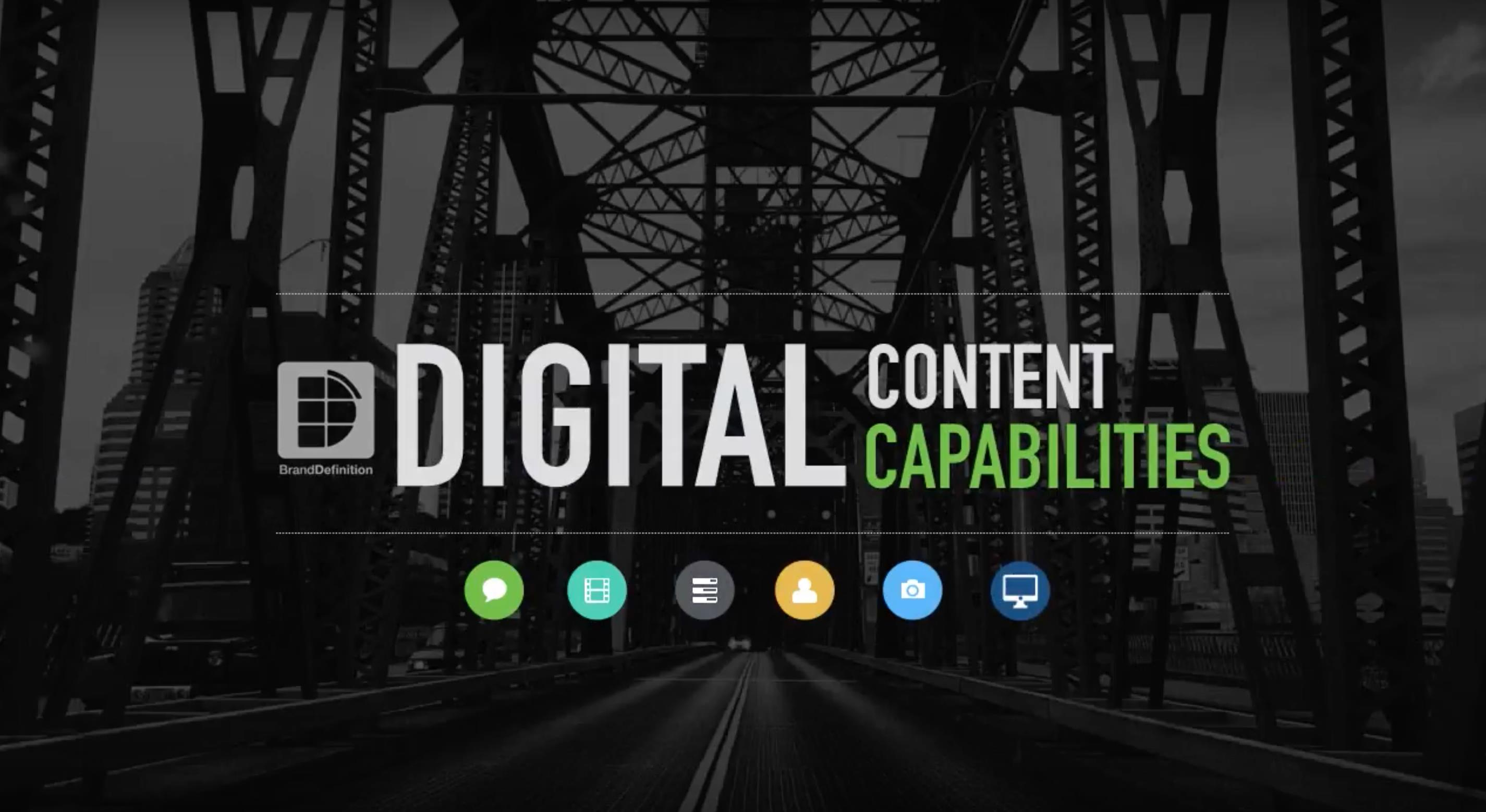 Brand Definition Digital Content Capabilities
