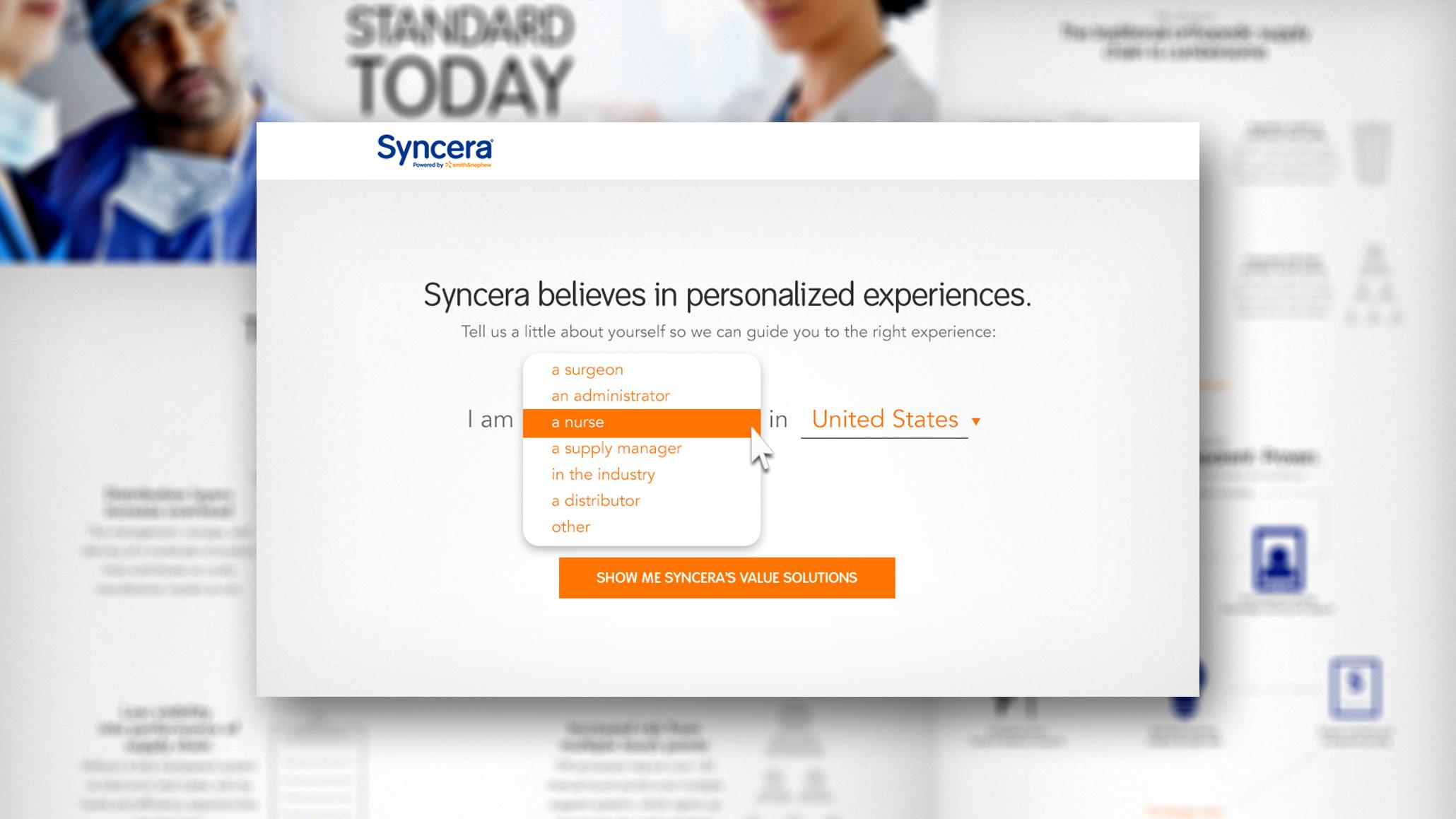 Smith & Nephew: Syncera Site Experience