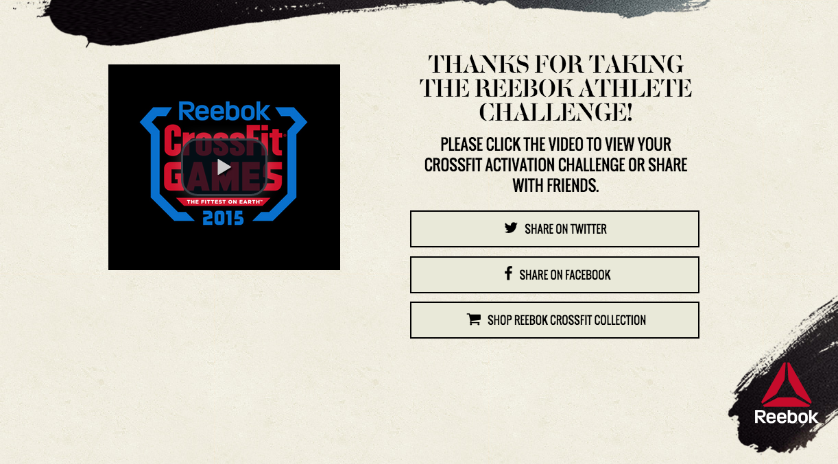 Reebok: Step Up to the Reebok Athlete Challenge
