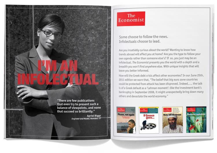 Economist Magazine: National Direct Mail Marketing
