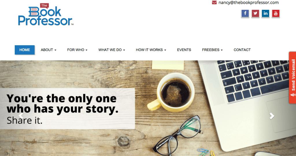 Wordpress Website, The Book Professor
