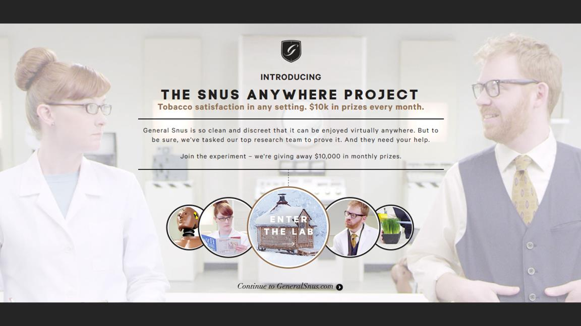 The SNUS Anywhere Project