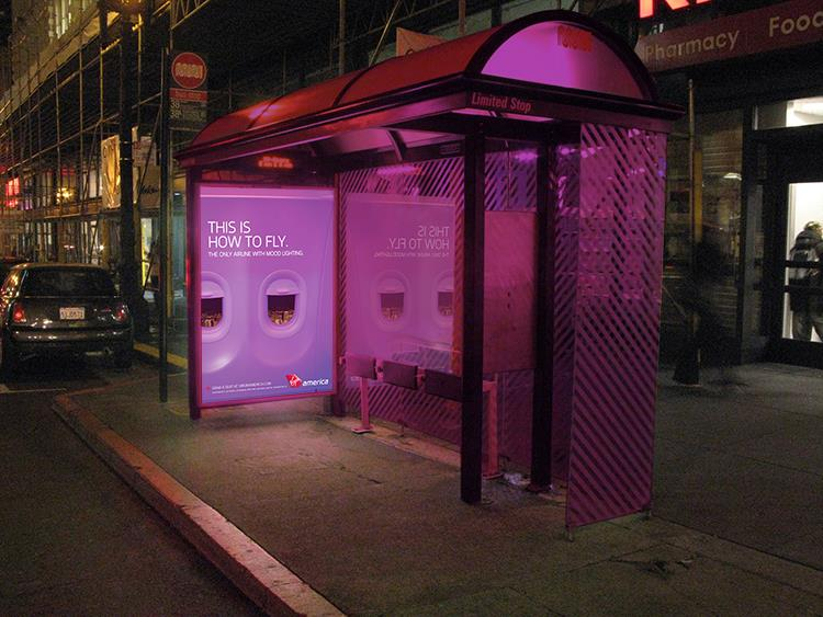Mood-lit Bus Shelters