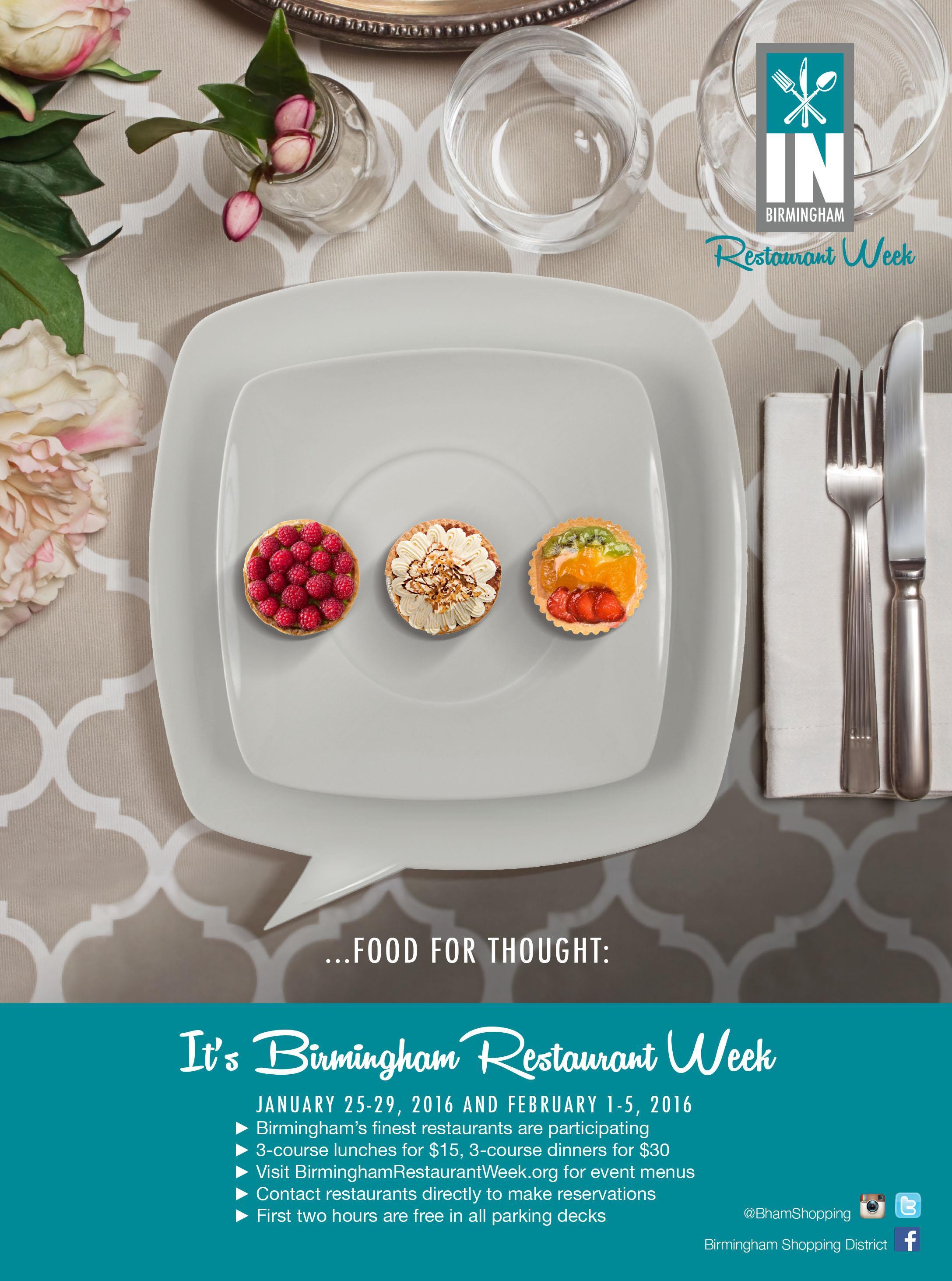 Birmingham Restaurant Week Ad