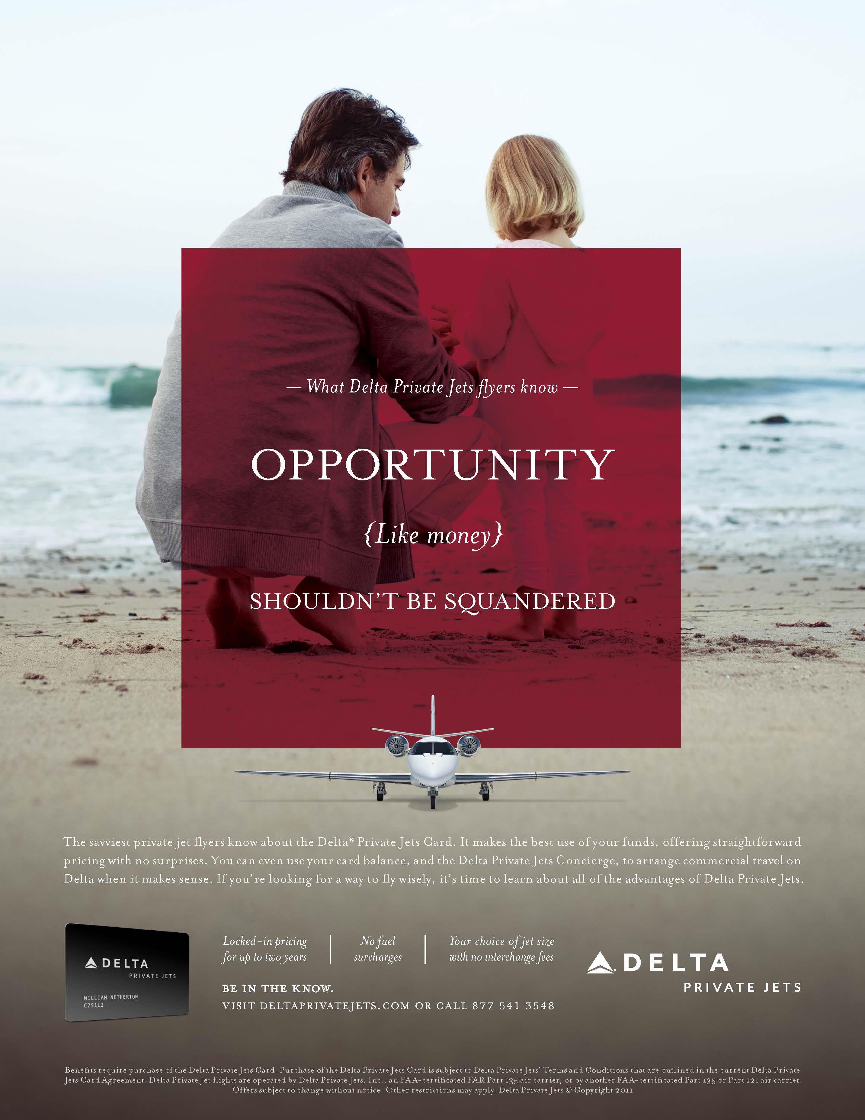"""What Delta Private Jets Flyers Know"" Campaign"