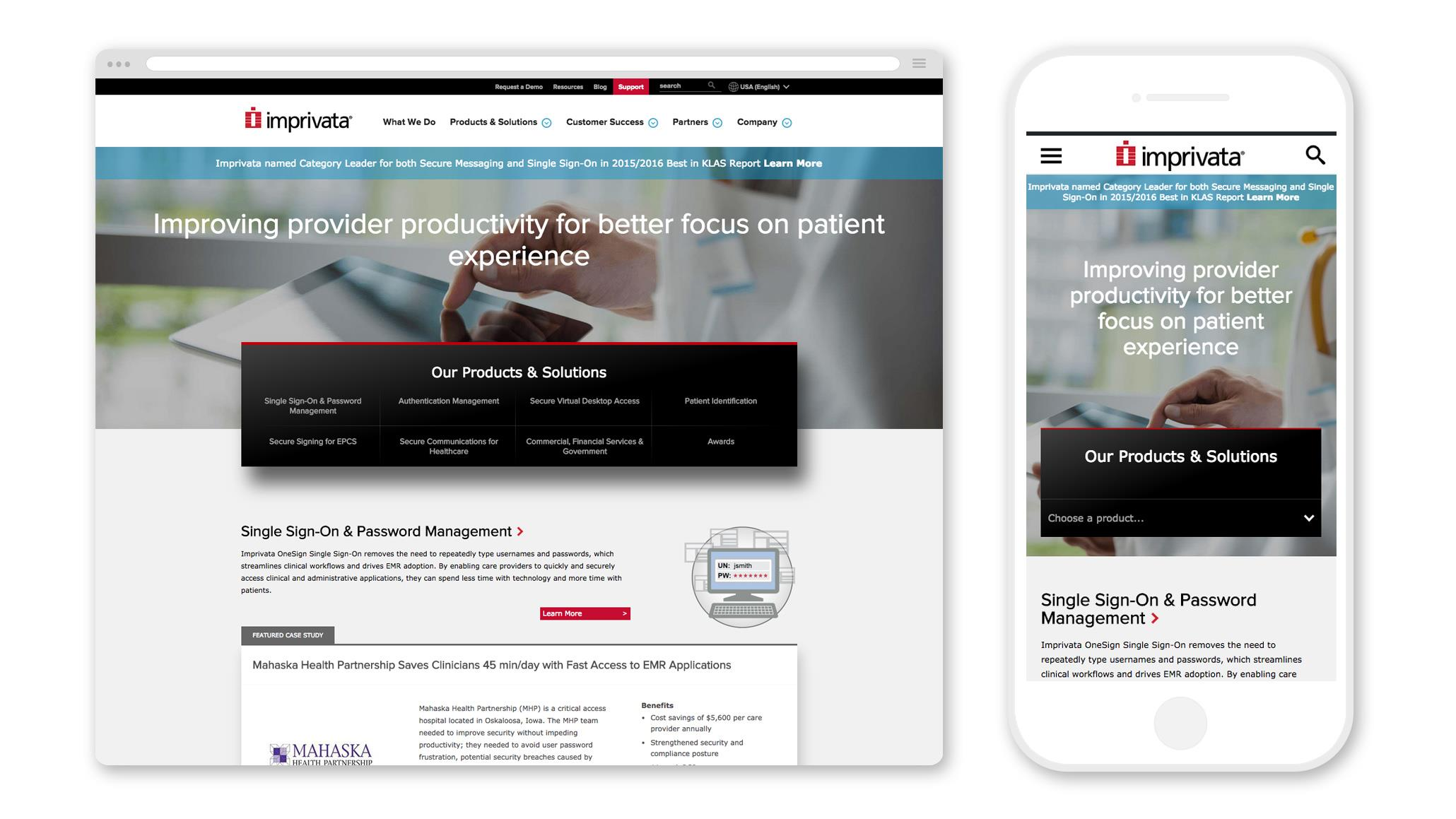 Imprivata: Reinventing B2B with Parallax Drupal Powerhouse