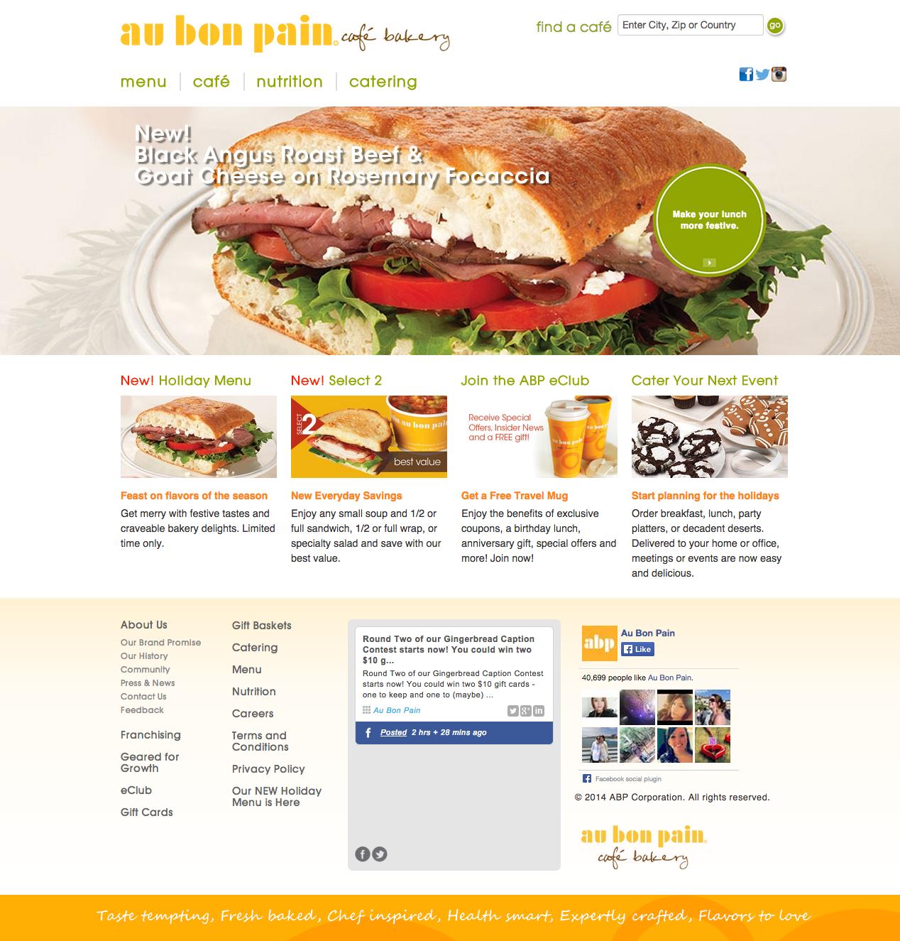 Au Bon Pain Website