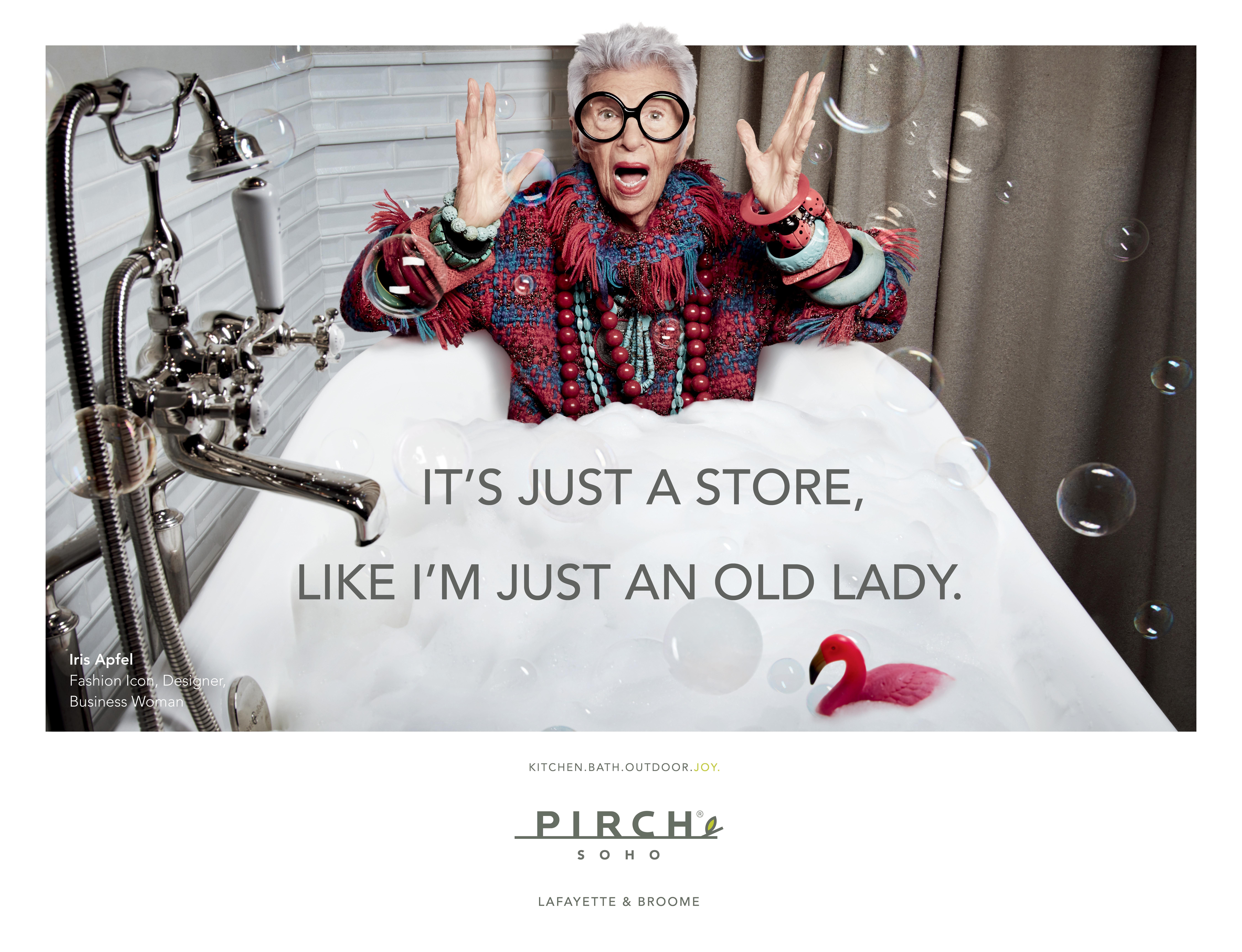 Iris Apfel for Pirch