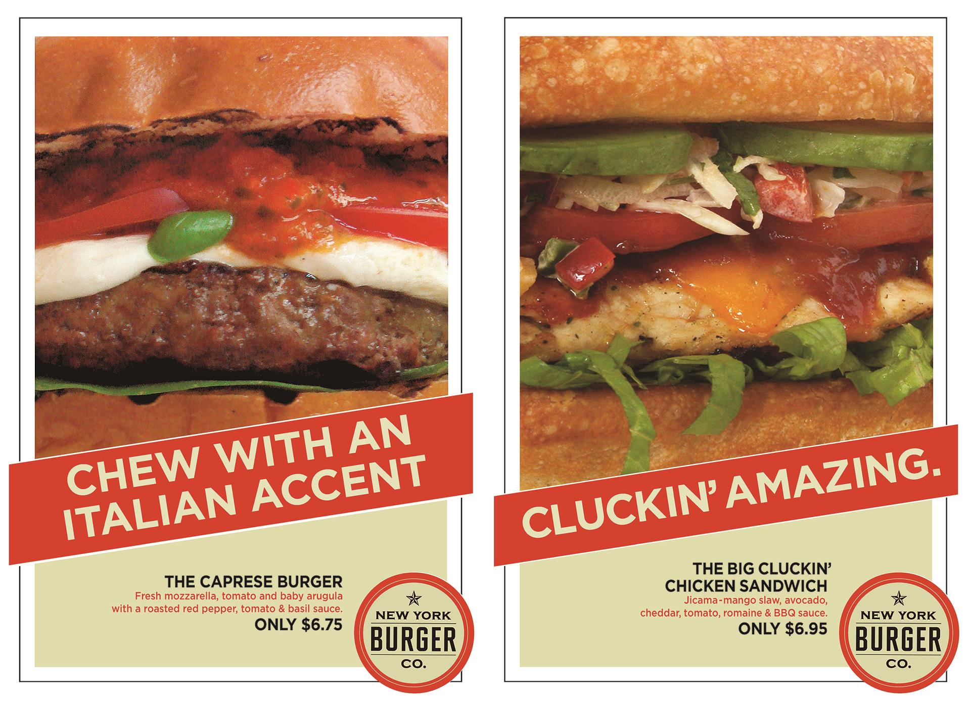 New York Burger Company - Print Campaign.