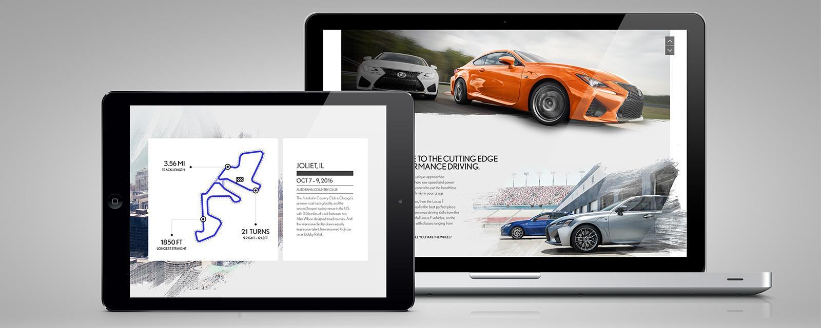 Lexus Performance Driving School Website