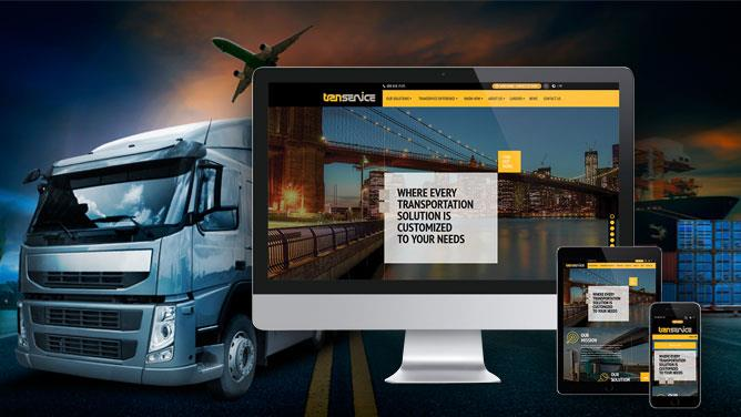 Website Design For Logistics Company