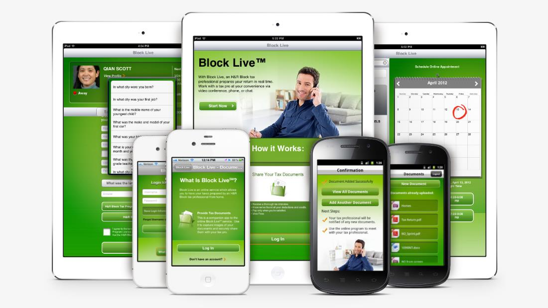 H&R Block's Suite of Mobile Apps