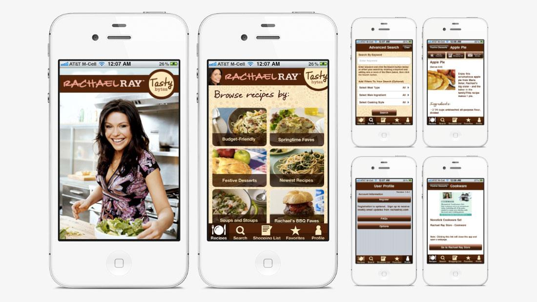 Rachael Ray's Recipes Mobile App