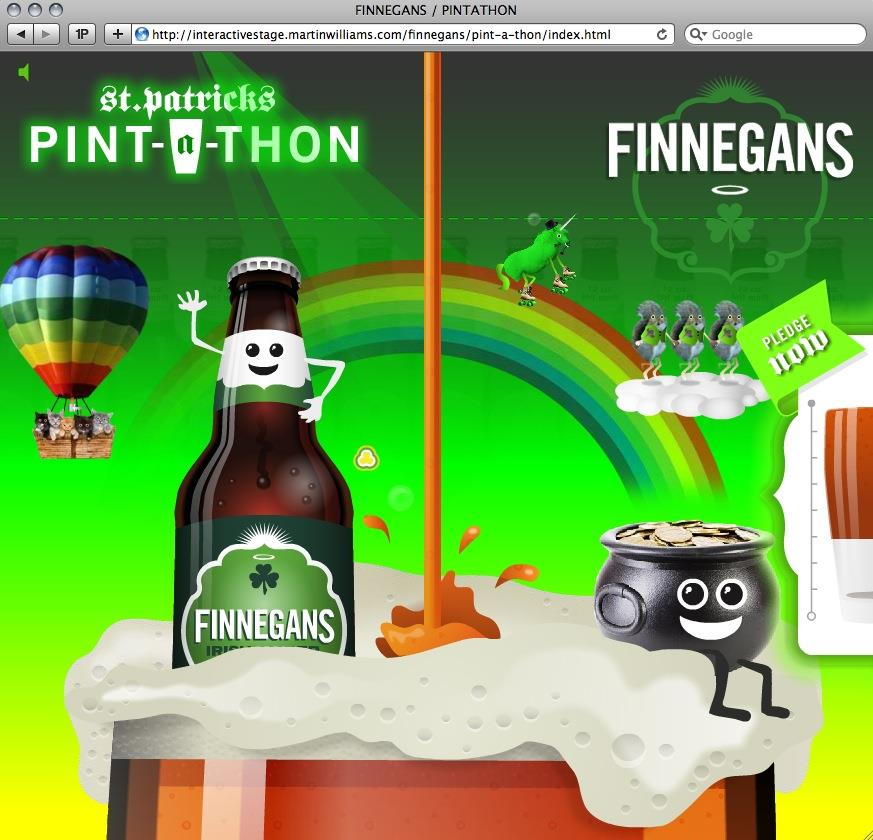 Pint-A-Thon Promotional Microsite