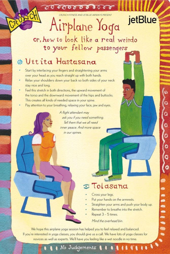 Airplane yoga card