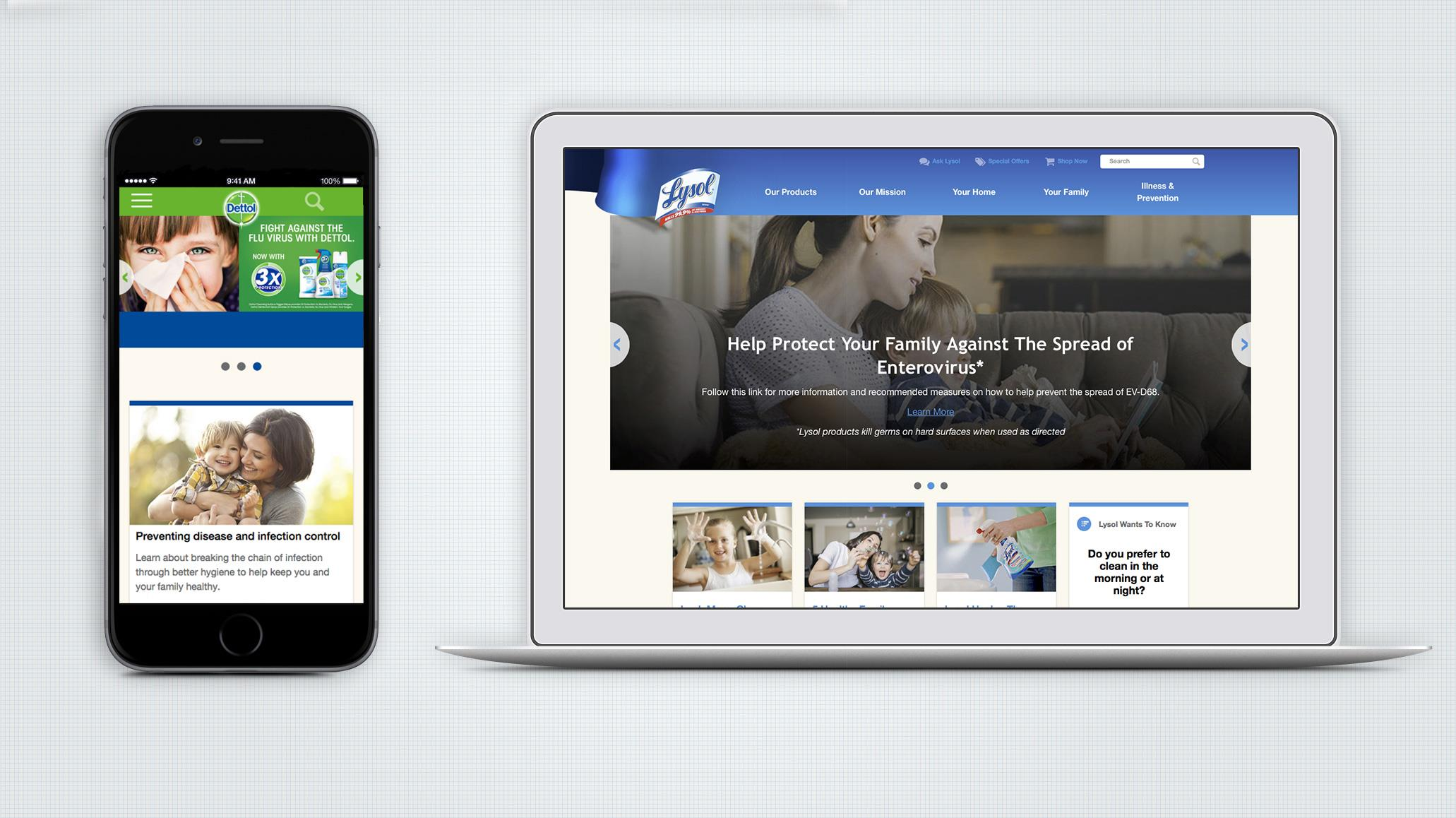 Lysol & Dettol: A global mobile-first website to reach digital moms