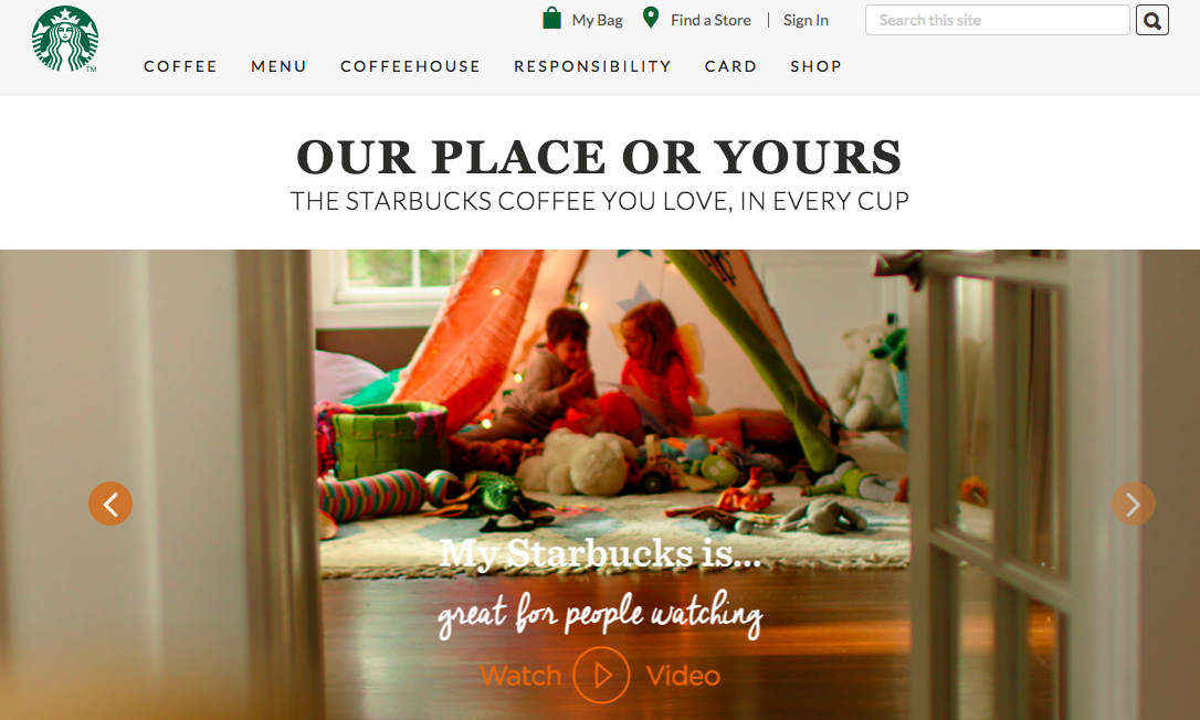 Starbucks at Home - Microsite