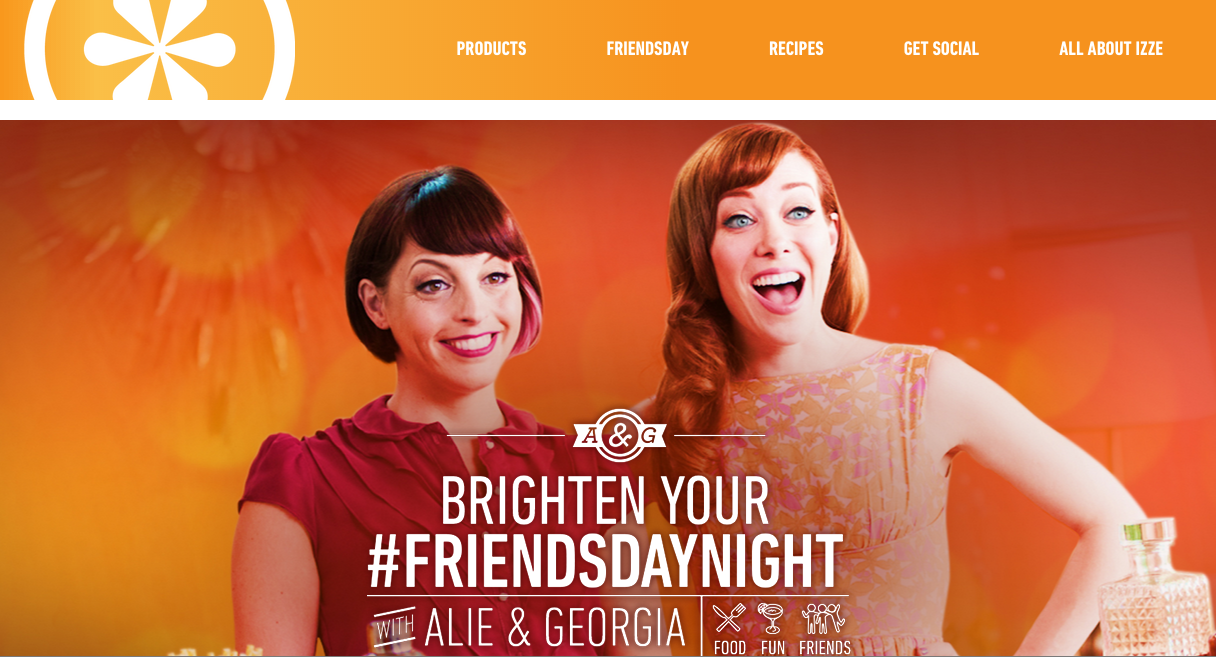 IZZE - Friendsday Microsite