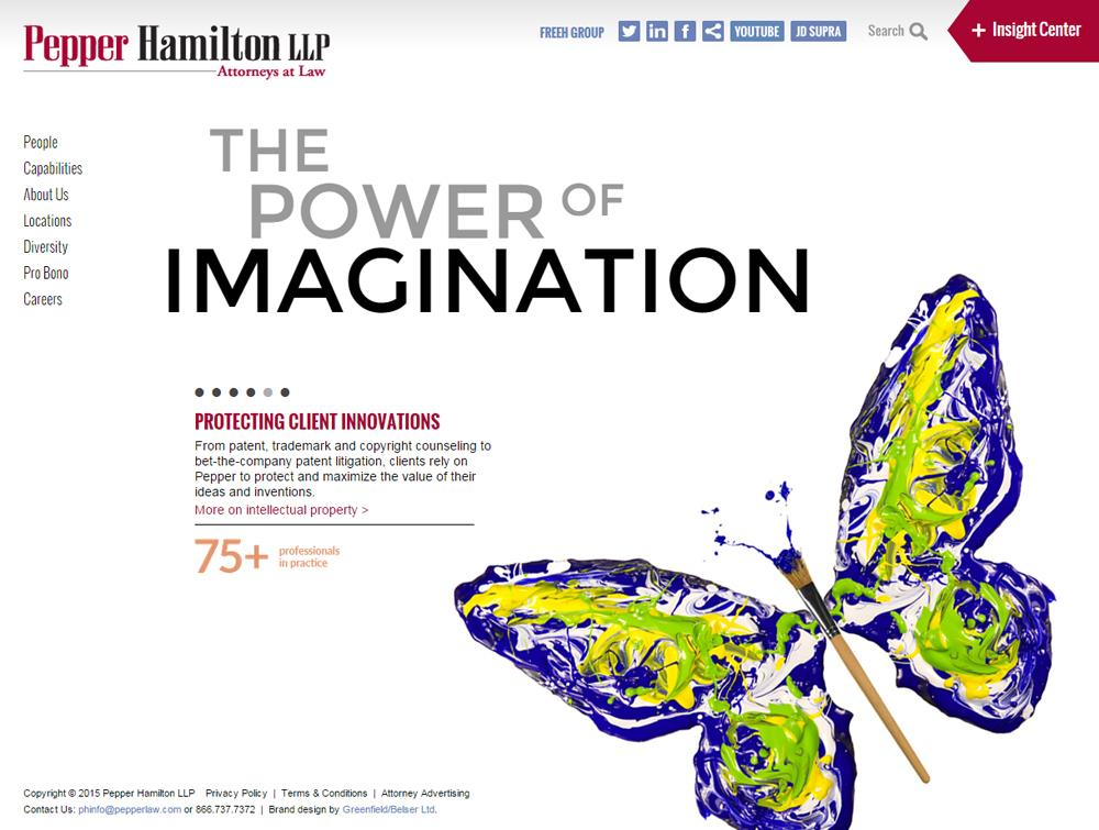 Pepper Hamilton LLP / Law Firm Website, Mobile Site, 125th Anniversary Microsite, and CMS